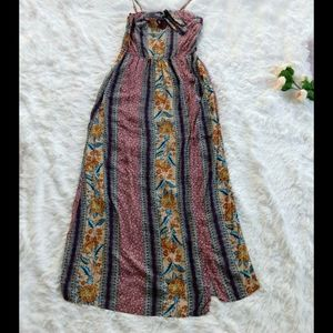 🌺 Band of Gypsies Boho Floral Print Women's Dress